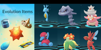 Evolution item pokemon go